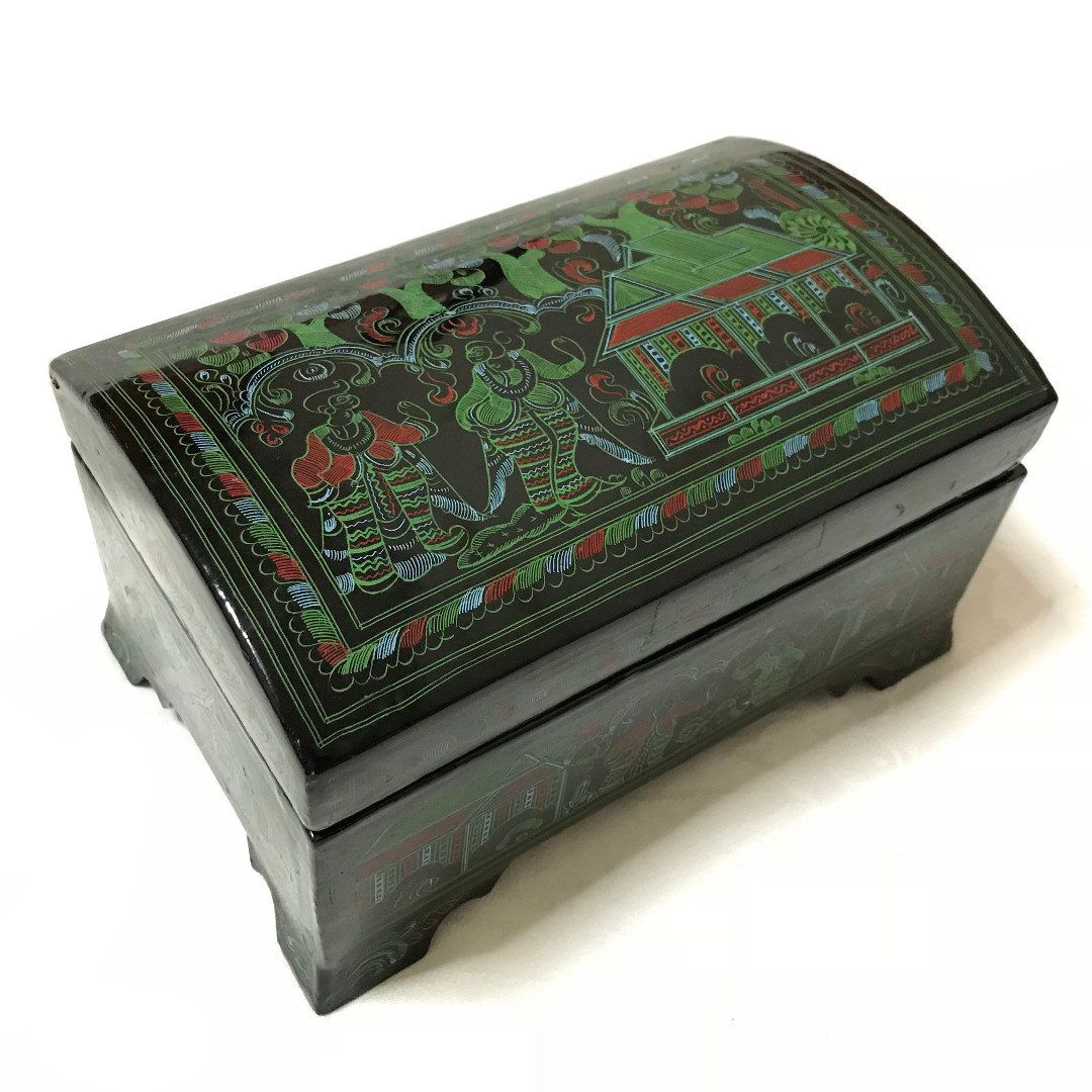 Tell more asian painted metal box confirm. And