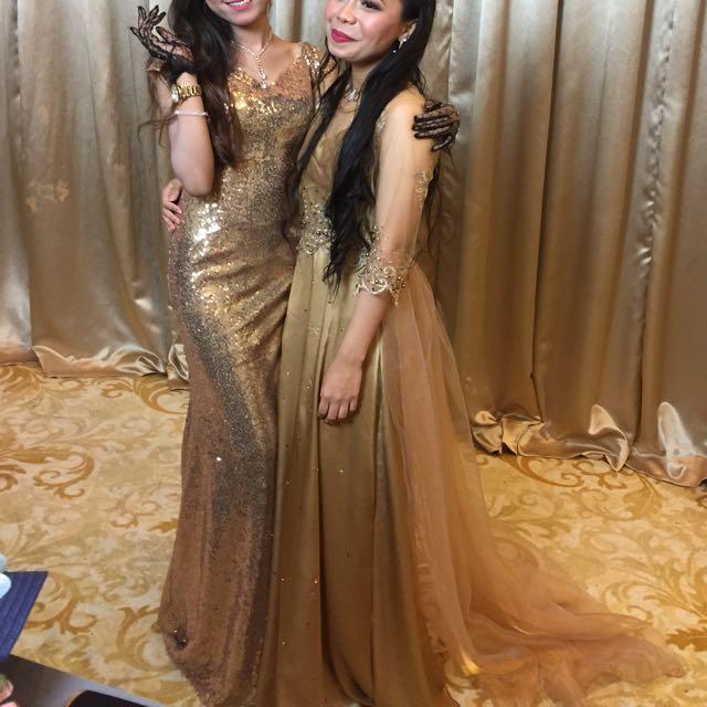 Gold Night Dresses