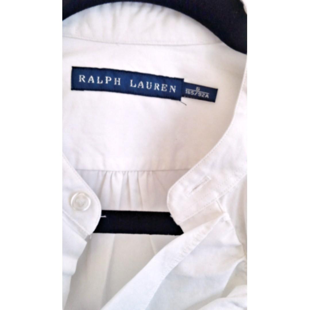 Ralph Lauren stylish white shirt blouse size AU 8-10 with ruffle detail