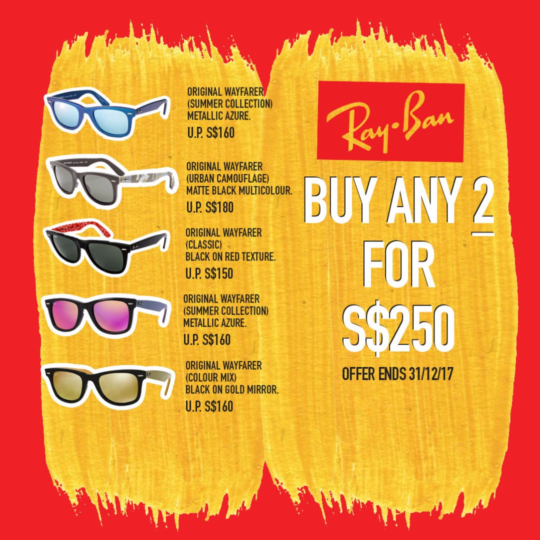 1906f216567e2 Ray Ban Annual 12 12 Promotion