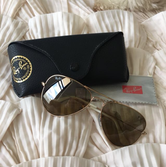 Ray-Ban classic aviator sunglasses | Gold frame With Brown polarised lenses