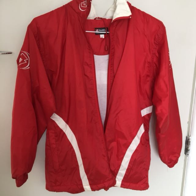 Red lotto jacket size 8