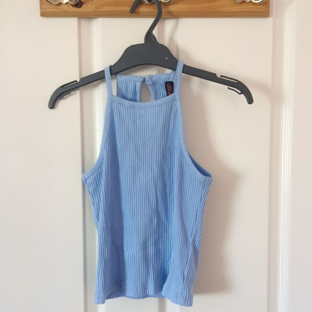 Ribbed Blue Top BNWT