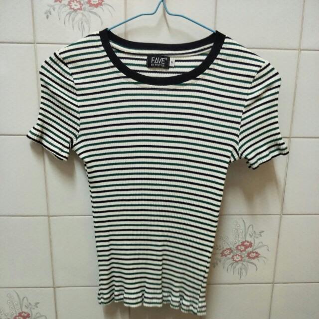 Ribbed stripe shirt