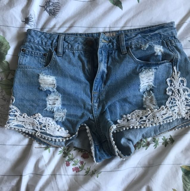 Rip curl denim shorts