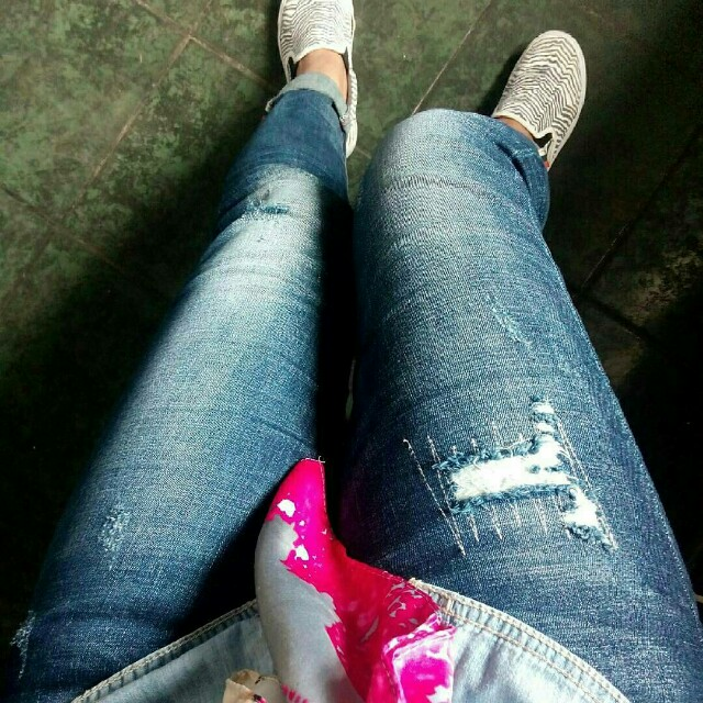 Ripped jeans zm denim import