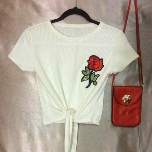 Rose Patch Top
