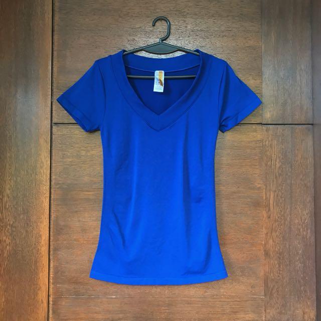 Royal Blue V-neck Tshirt