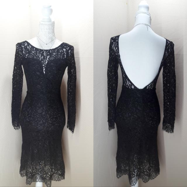 SALE! Elegant Black Laced Dress