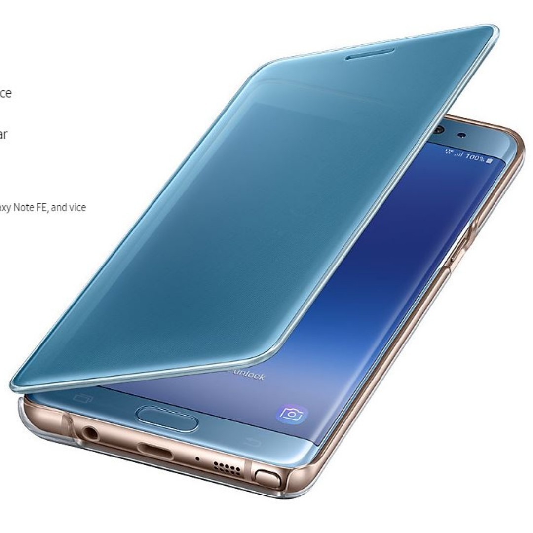 Samsung Galaxy Note Fe Clear View Cover Original Mobile Phones