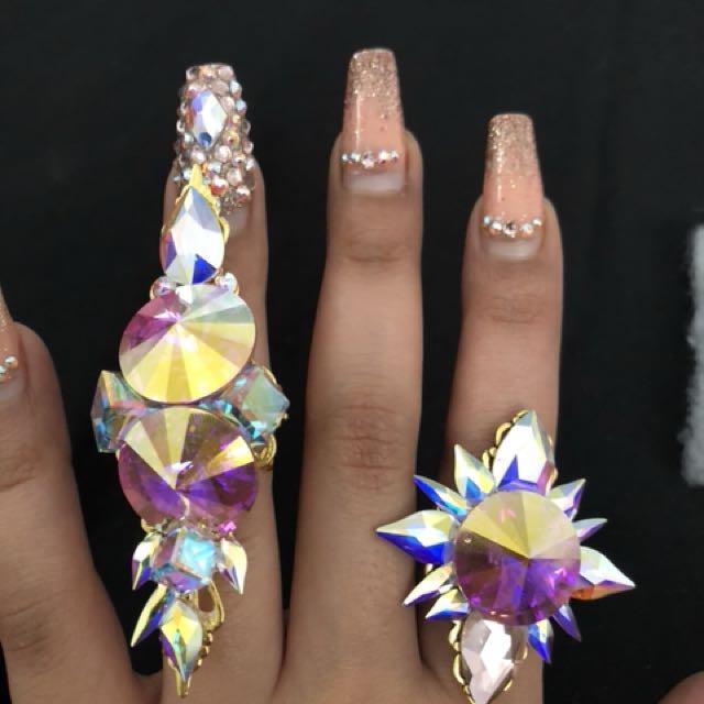 Set of rings Swarovski crystal