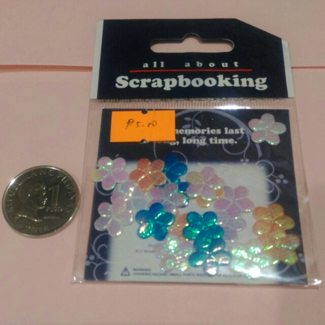 Shimmery Flowers for Crafting and Scrapbooking