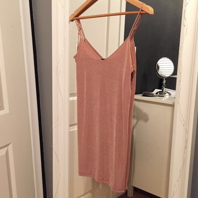 Shiny Zara slip dress - small