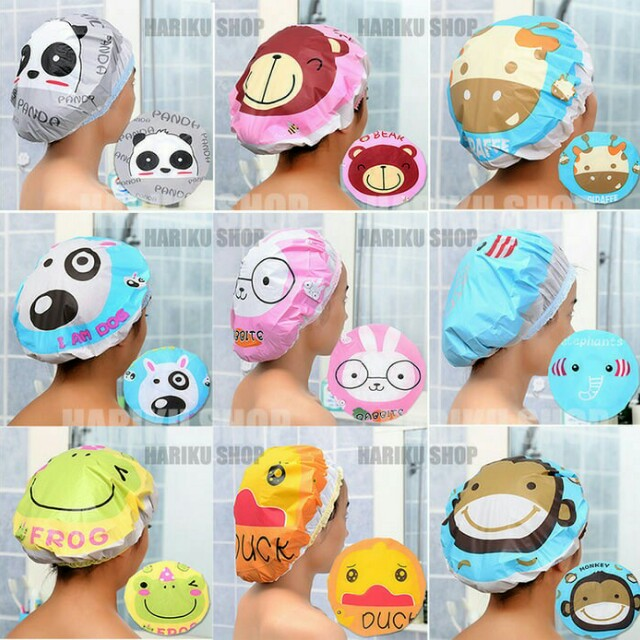Shower Cap Karakter Kartun