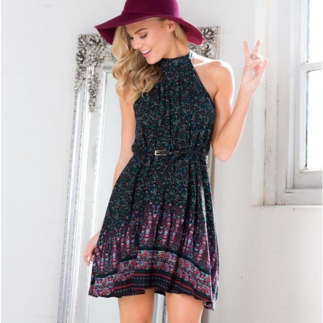 Showpo Halterneck Dress BNWT