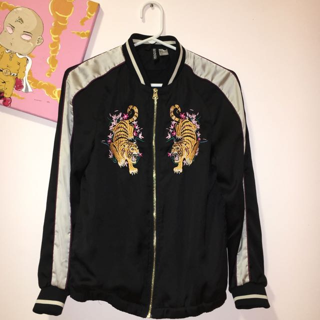 Silk Embroiled Bomber