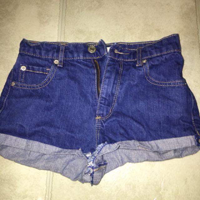 Size 00 // Garage Denim Shorts