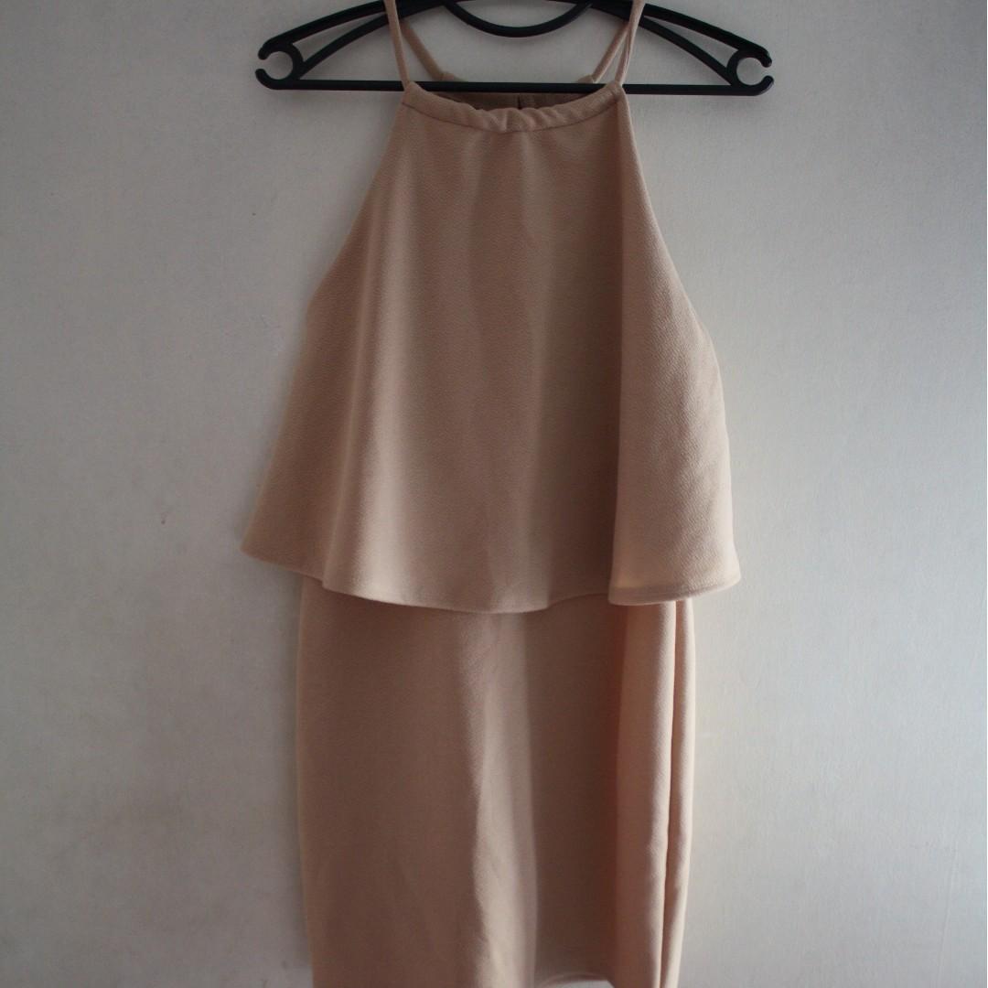 Skintone Halter Dress