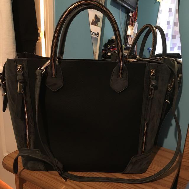 Steve Madden Half Leather Half Suede Handbag