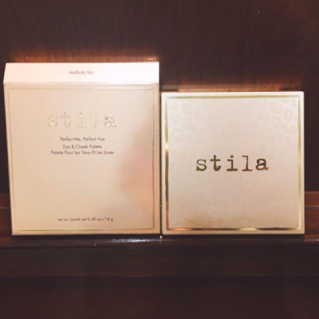 (含運)Stila perfect hue eye & cheek palette 眼頰彩盤 medium/tan