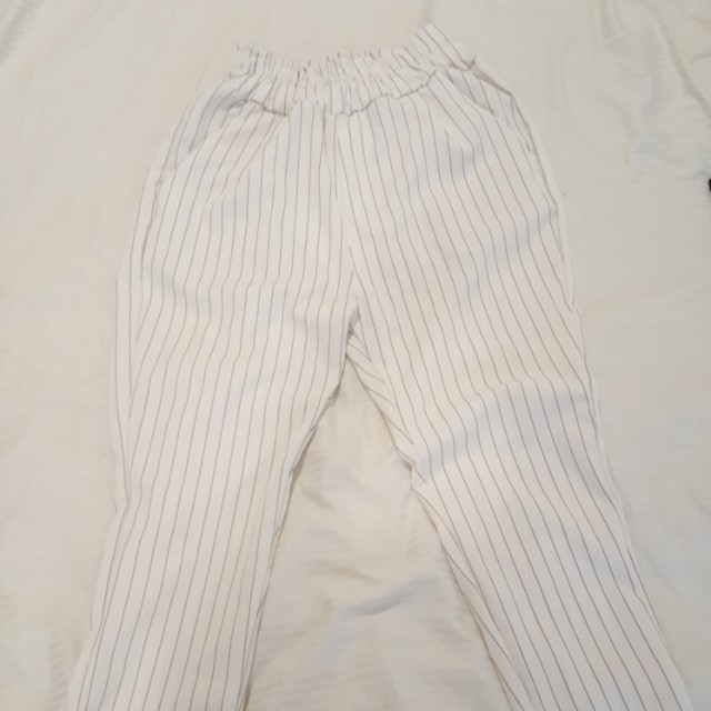 Striped high waisted pants