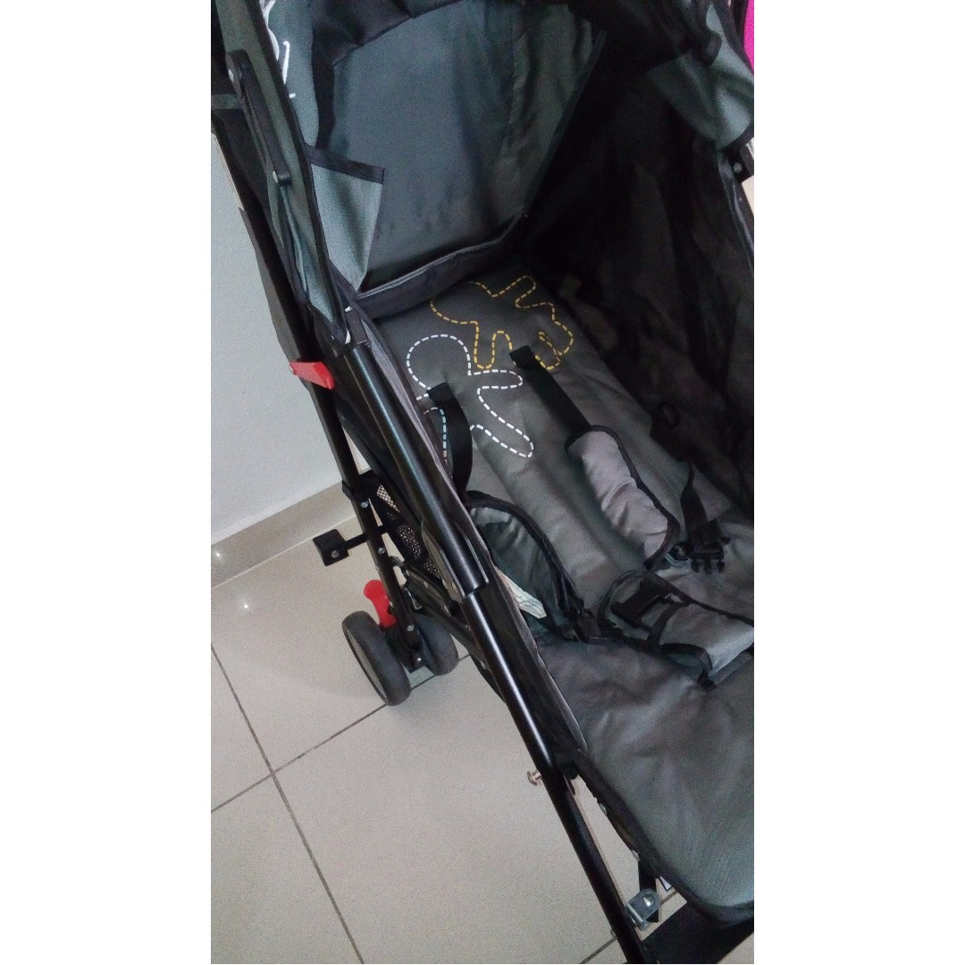 Picolo Umbrella Fold Stroller Gray And Black On Carousell