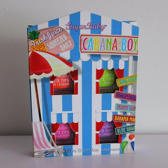 SugarBaby Cabana Boy Cute Tips Nail Lacquer Kit