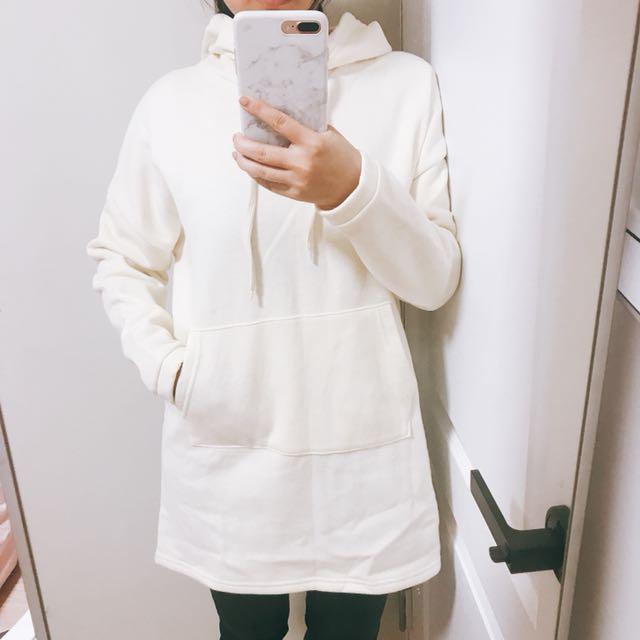 正韓長版帽T全新