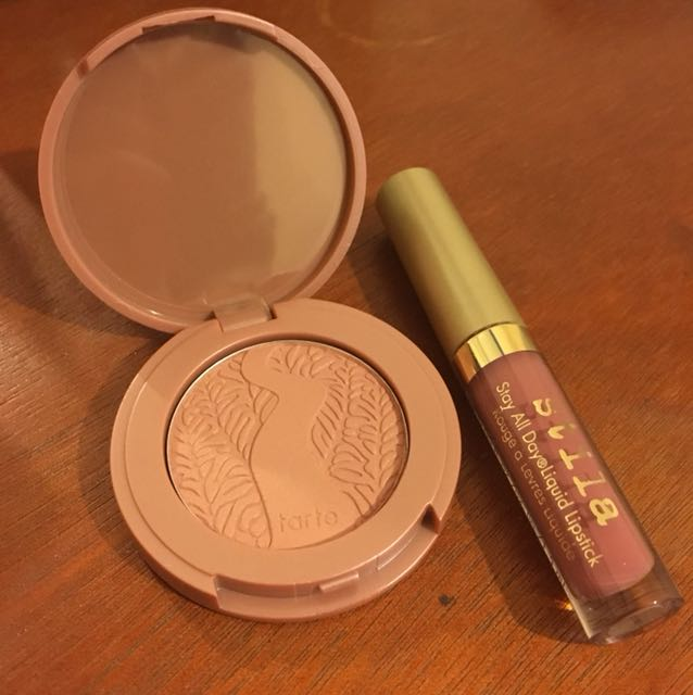 Tarte blush and stila lippie