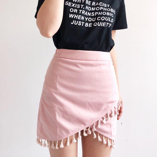 Tassel wrap skirt