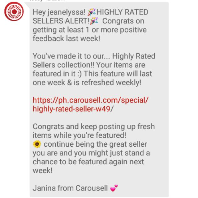 THANK YOU CAROUSELL ❤❤❤