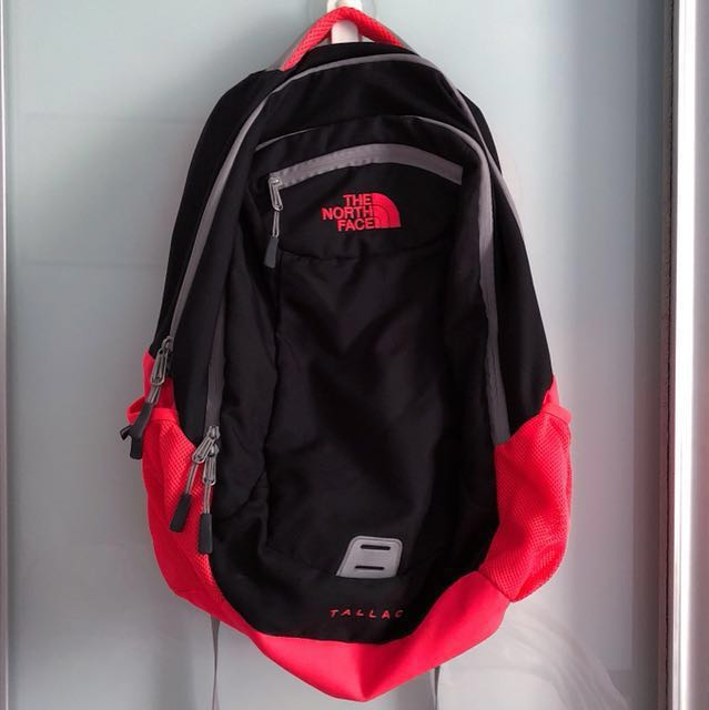 8bd3db3f8a The North Face Tallac 24L Backpack (black/coral), Sports, Sports ...