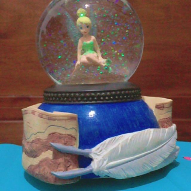 迪士尼thinker bell 小仙女水晶球 音樂球