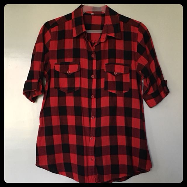 Top/Blouse 7: Checkered 3/4