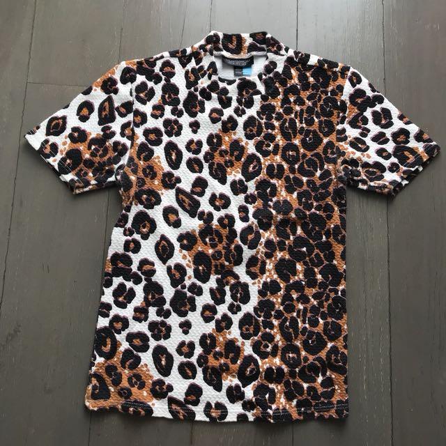 Topshop Leopard Top