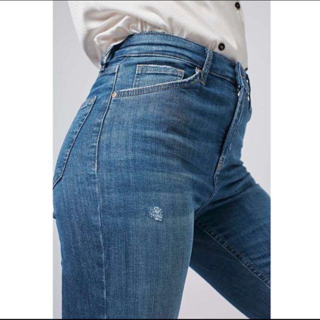 Topshop Moto Jaime High Waisted Angle Grazer Jeans