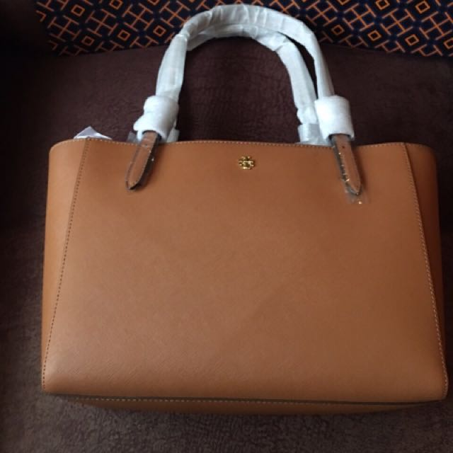 Tory Burch Tan Saffiano Leather Bag