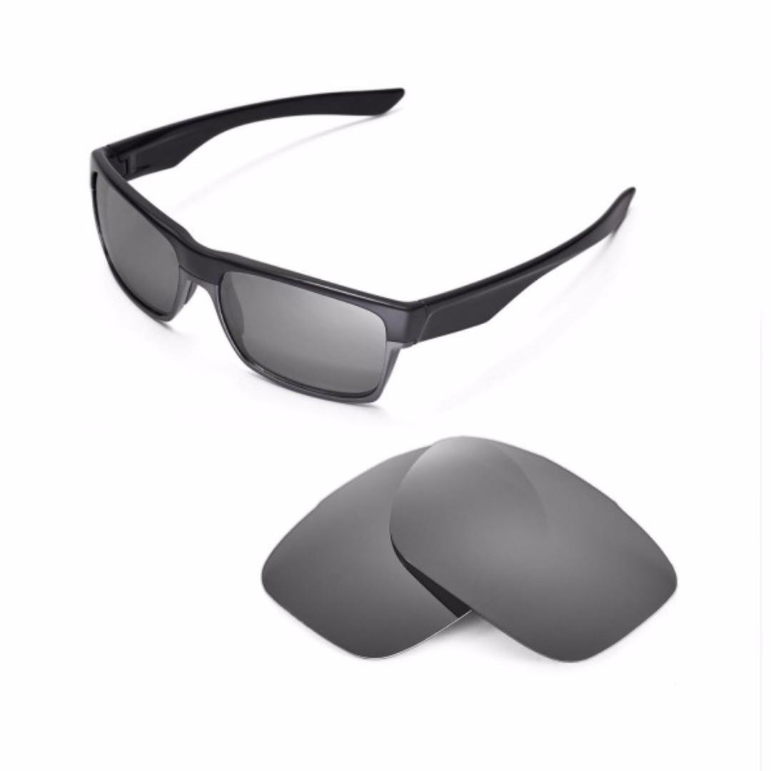 45cec693e8 Two Face Titanium POLARIZED Walleva Replacement Lenses for Oakley ...