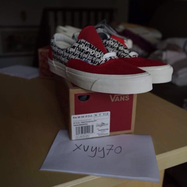 693afb5aa9 Vans X Fear of God Authentic Era 95 DX RED