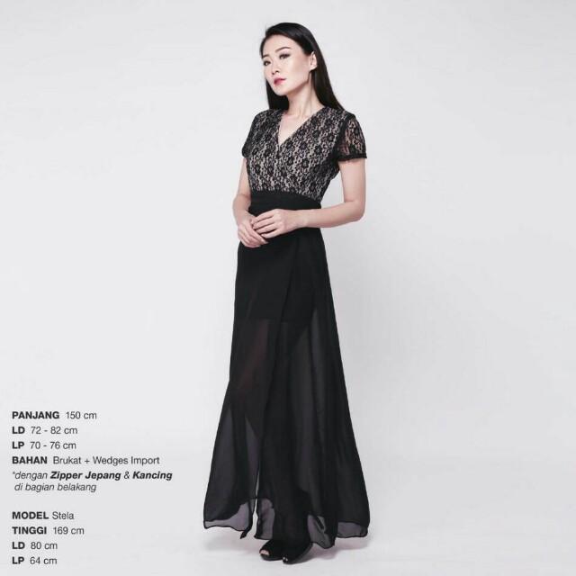 V-Lace long dress
