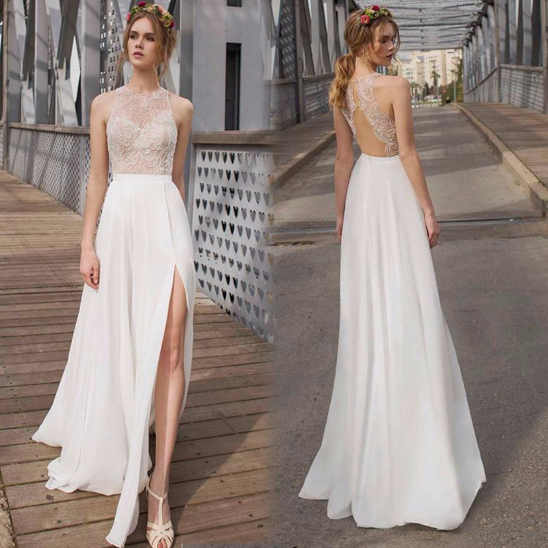 Wedding Collection - Sexy Lace Backless Wedding Gown