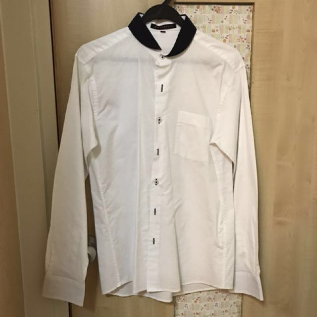 White Shirt with Varied Collar