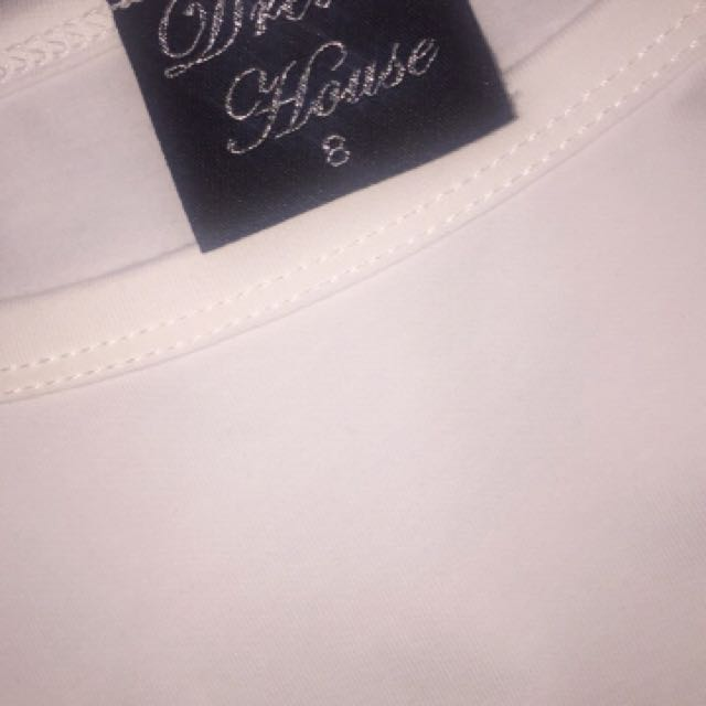 White tshirt dress with waist ties