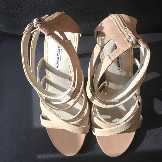Windsor Smith nude stiletto strappy heels, style 'calm', size 7