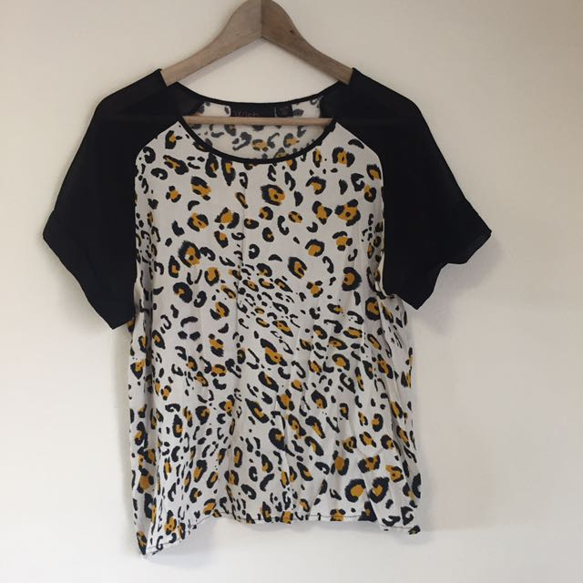 Wish leopard print top size 14 or large