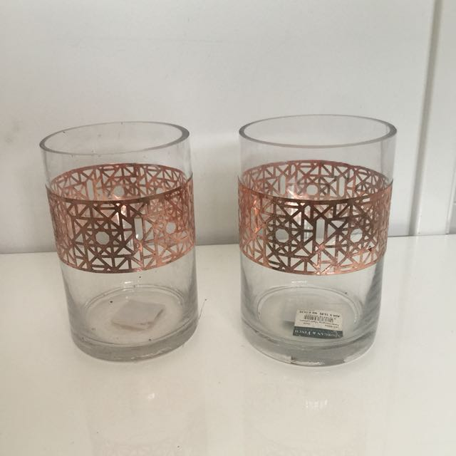 X2 Large rose gold holders - great for makeup brushes!