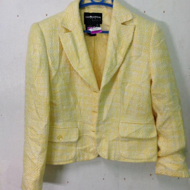 Yellow Blazer Knitted Fabric