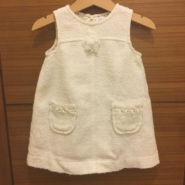 Zara Baby 好氣質繡球編織洋裝-免運
