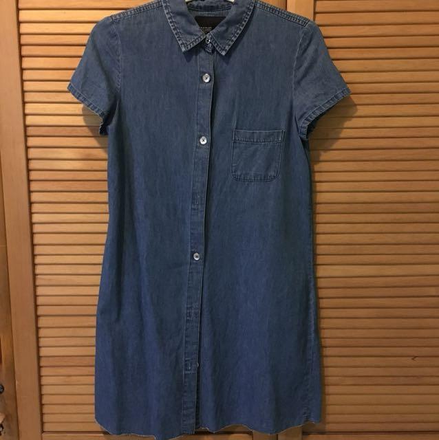 Zara denim shirtdress