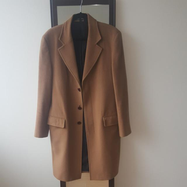 Zara Men Coat - Cashmere Blend - Size: Large